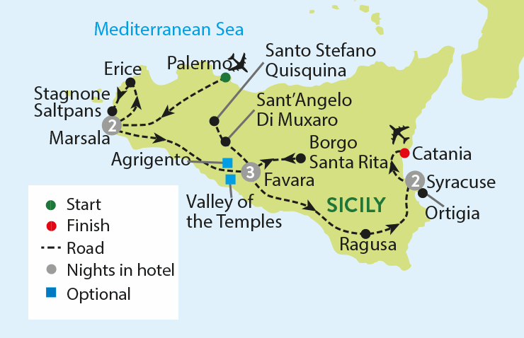 8 Day Package Holiday In Sicily And Escorted Tours