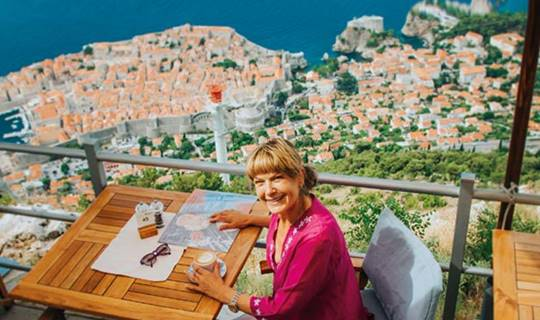 Penny Smith in Croatia
